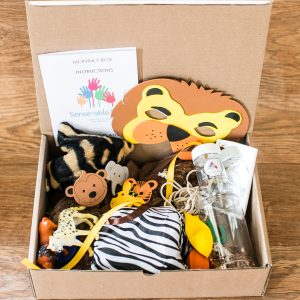 Senseable Play Baby Stimulation Wild Animal Monthly Box